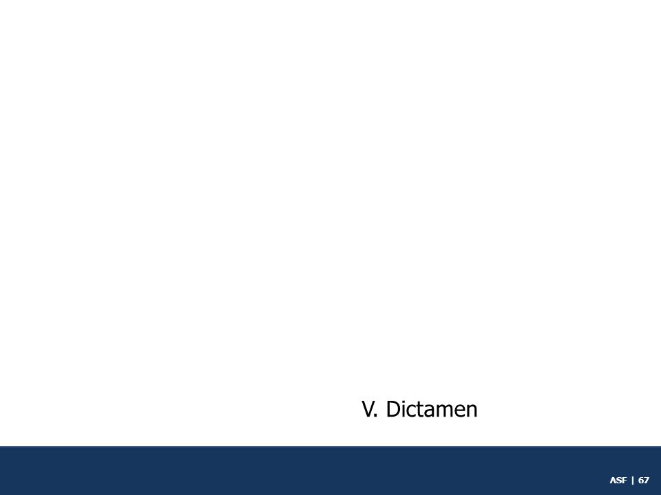 V. Dictamen