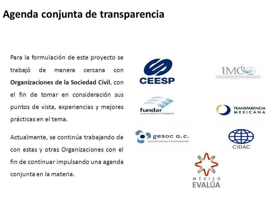 Agenda conjunta de transparencia