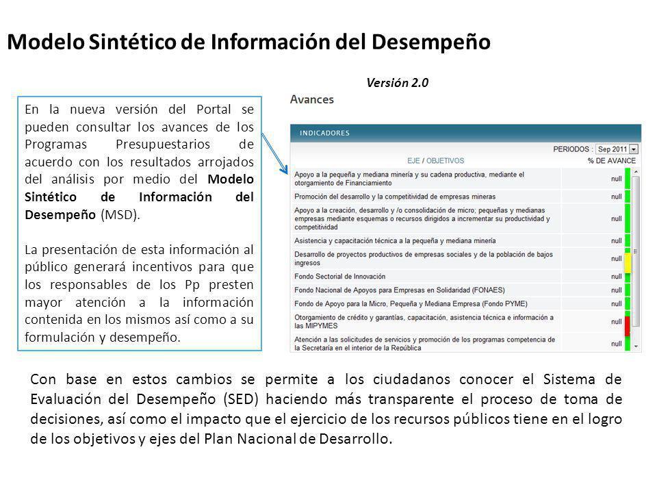 Modelo Sintético de Información del Desempeño
