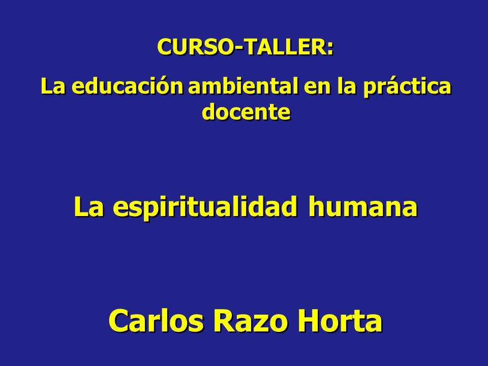 La educación ambiental en la práctica docente La espiritualidad humana