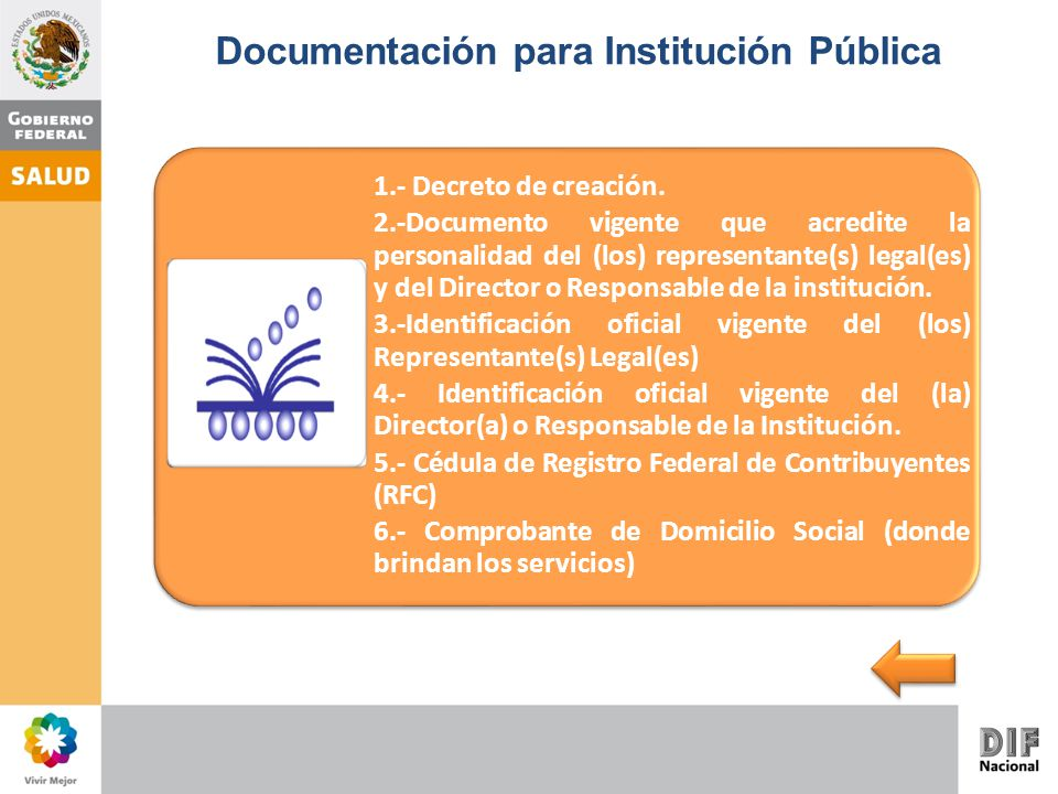Documentación para Institución Pública