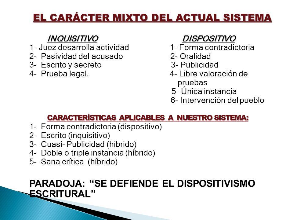 EL CARÁCTER MIXTO DEL ACTUAL SISTEMA
