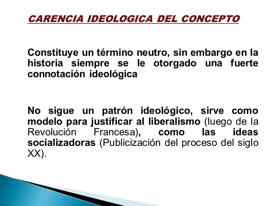CARENCIA IDEOLOGICA DEL CONCEPTO