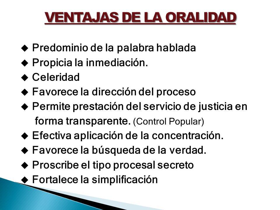 VENTAJAS DE LA ORALIDAD