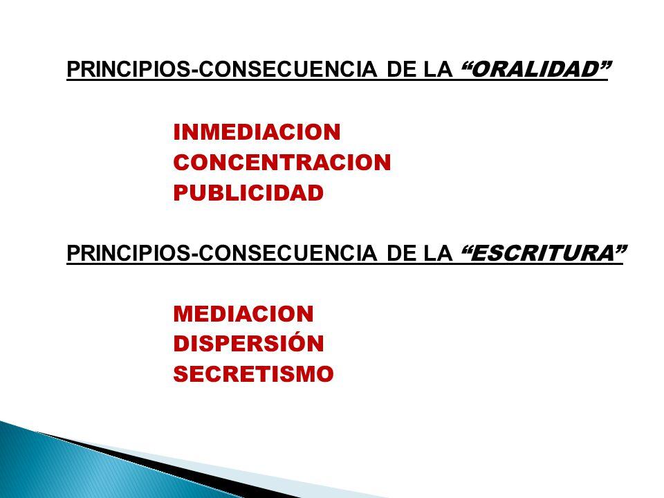 PRINCIPIOS-CONSECUENCIA DE LA ORALIDAD
