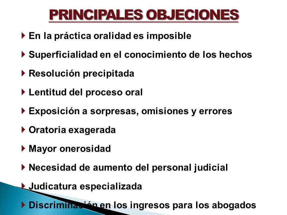 PRINCIPALES OBJECIONES