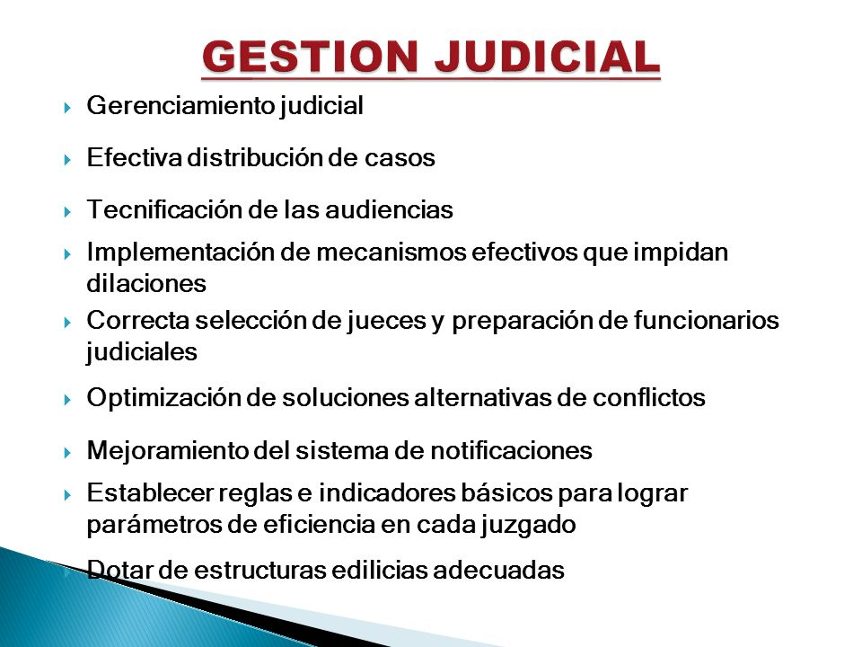 GESTION JUDICIAL Gerenciamiento judicial