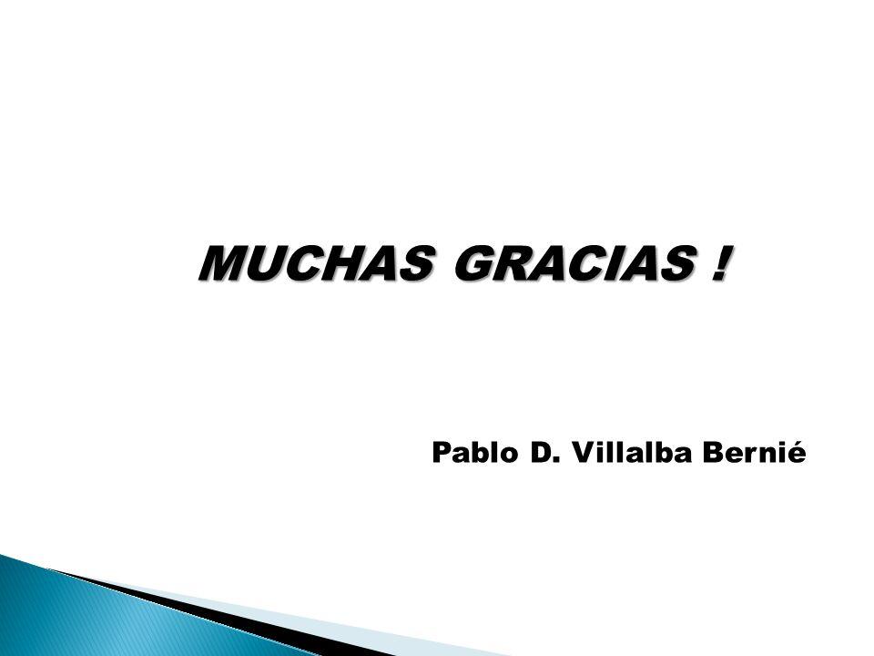MUCHAS GRACIAS ! Pablo D. Villalba Bernié