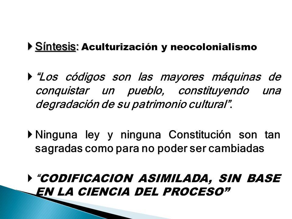 Síntesis: Aculturización y neocolonialismo