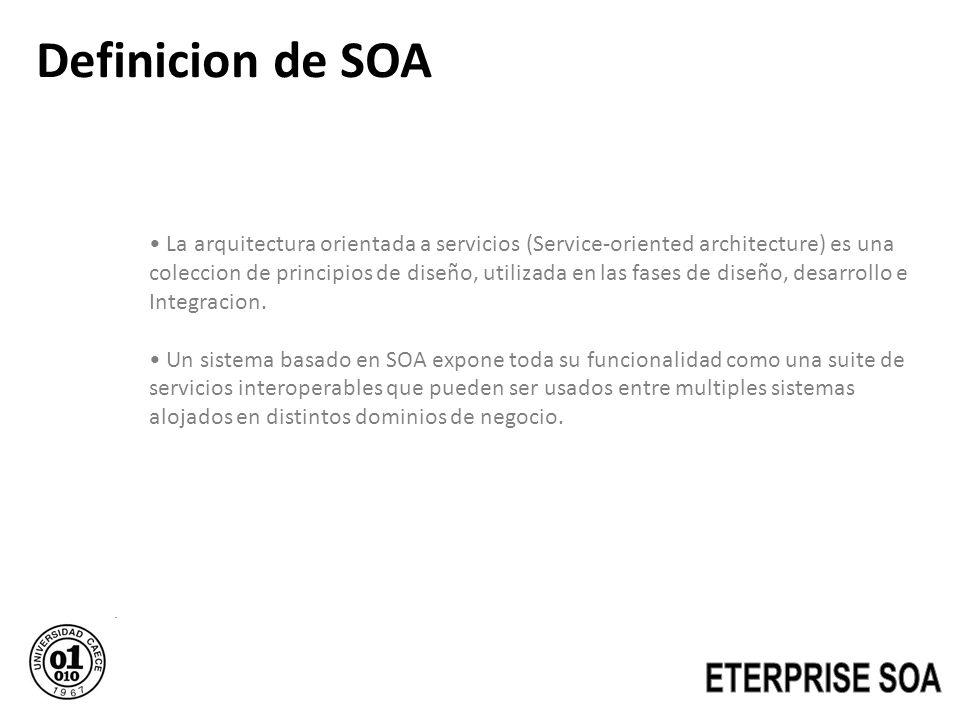 Definicion de SOA ETERPRISE SOA