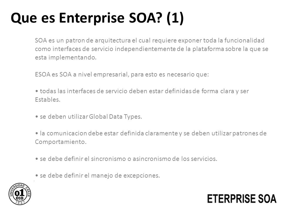Que es Enterprise SOA (1)