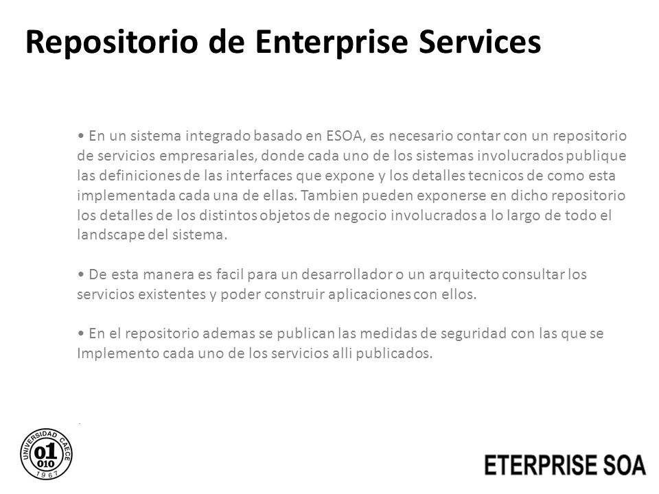 Repositorio de Enterprise Services
