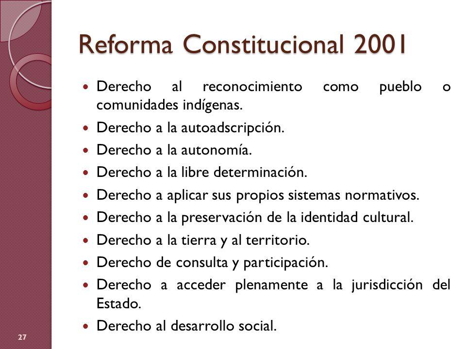 Reforma Constitucional 2001