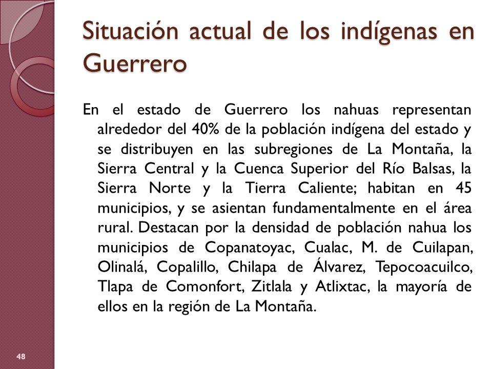 Situación actual de los indígenas en Guerrero