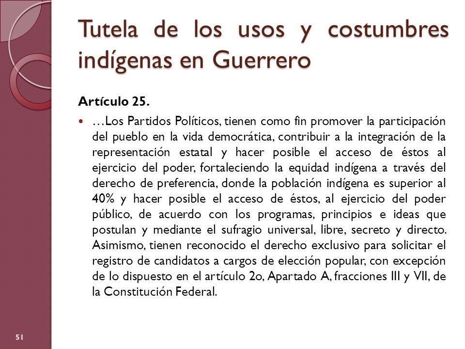 Tutela de los usos y costumbres indígenas en Guerrero