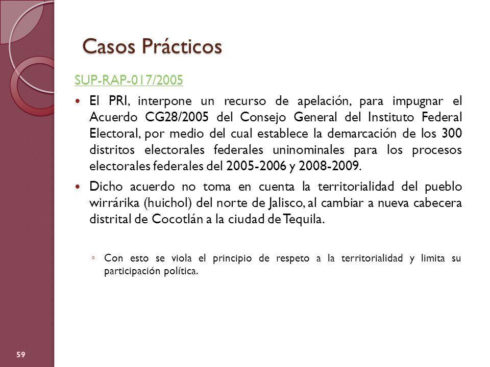 Casos Prácticos SUP-RAP-017/2005