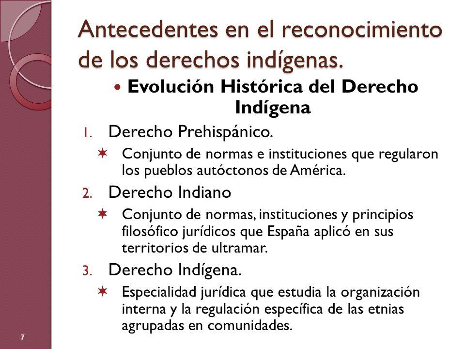 Antecedentes en el reconocimiento de los derechos indígenas.