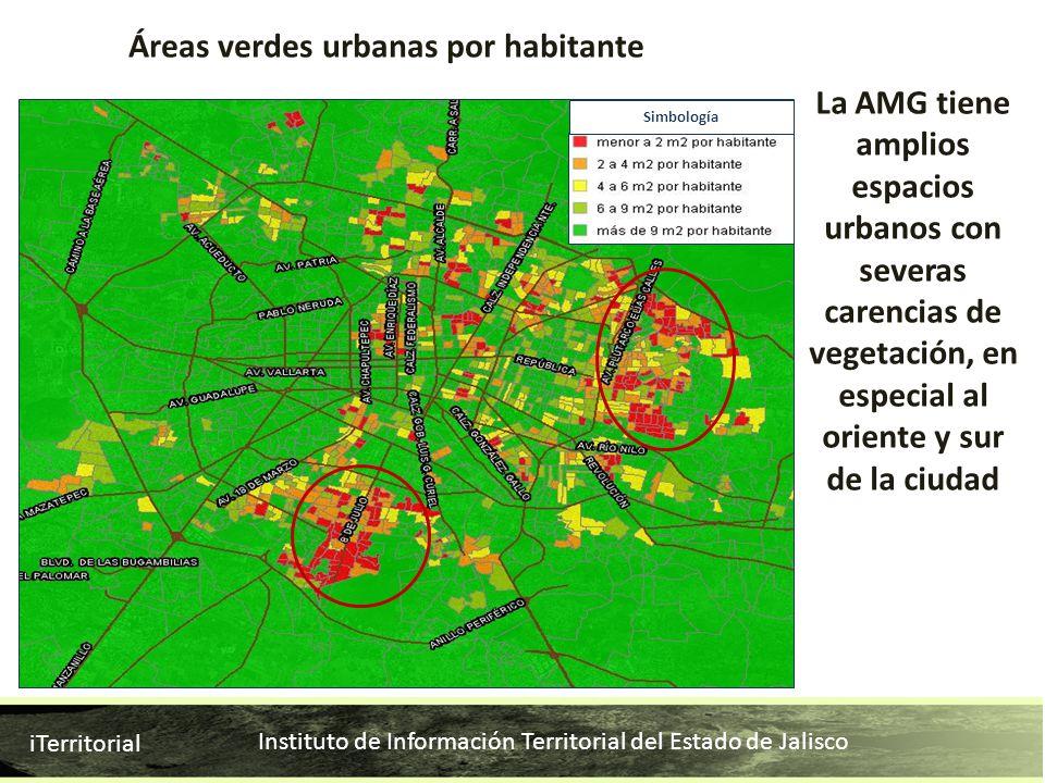 Áreas verdes urbanas por habitante