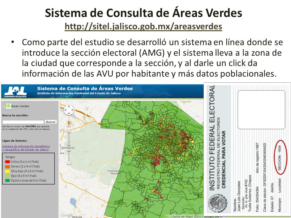 Sistema de Consulta de Áreas Verdes http://sitel. jalisco. gob