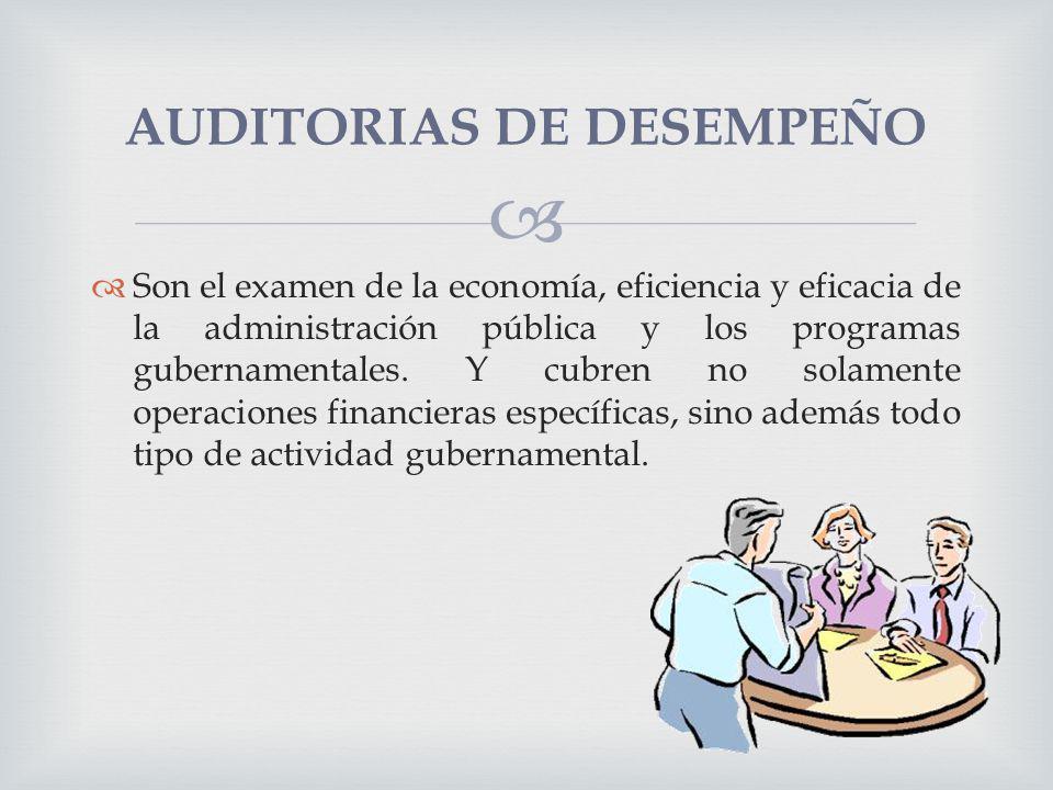 AUDITORIAS DE DESEMPEÑO
