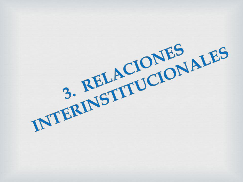 3. RELACIONES INTERINSTITUCIONALES