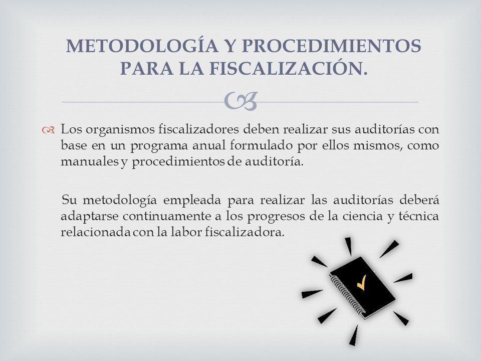 METODOLOGÍA Y PROCEDIMIENTOS PARA LA FISCALIZACIÓN.
