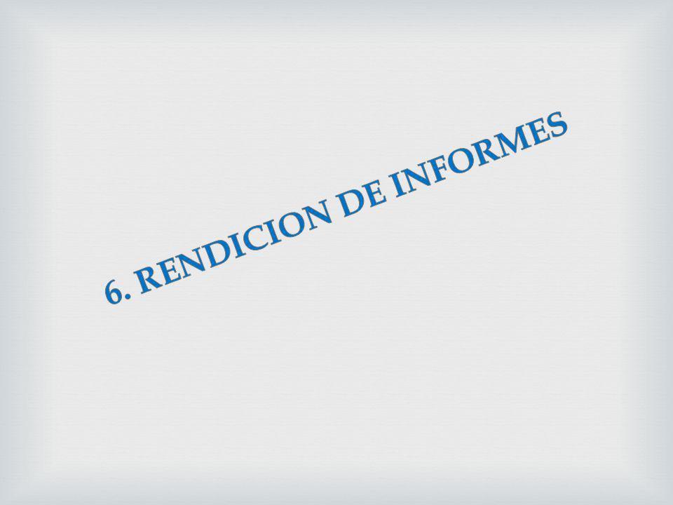 6. RENDICION DE INFORMES