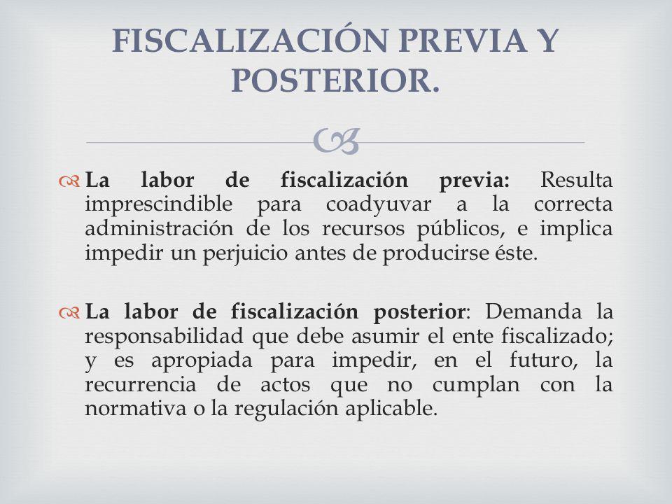 FISCALIZACIÓN PREVIA Y POSTERIOR.
