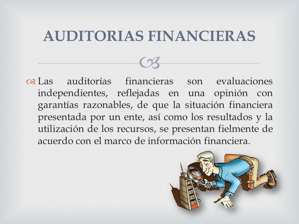 AUDITORIAS FINANCIERAS
