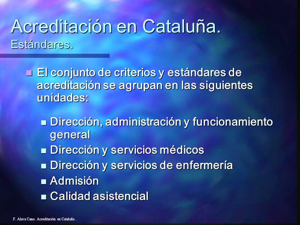Acreditación en Cataluña. Estándares.