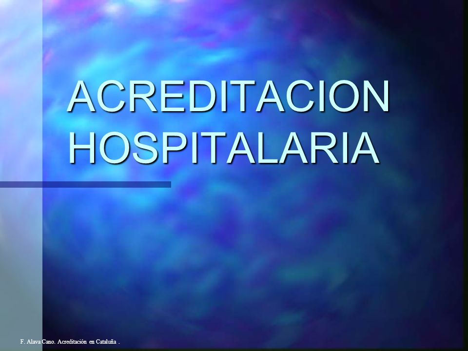 ACREDITACION HOSPITALARIA