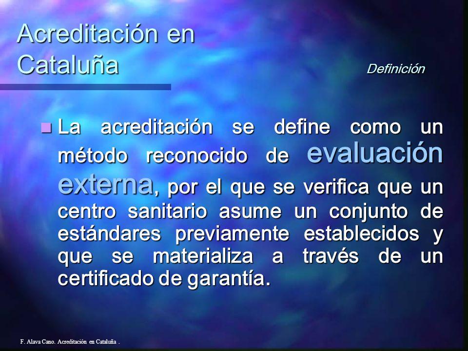Acreditación en Cataluña Definición