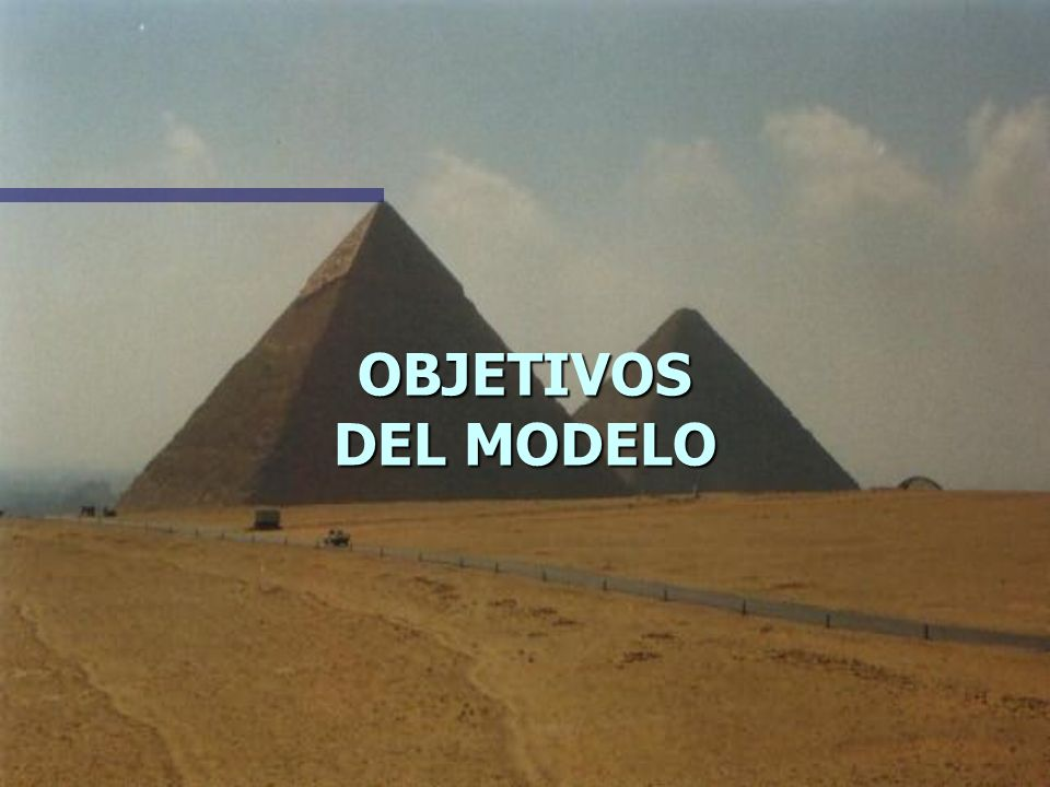 OBJETIVOS DEL MODELO