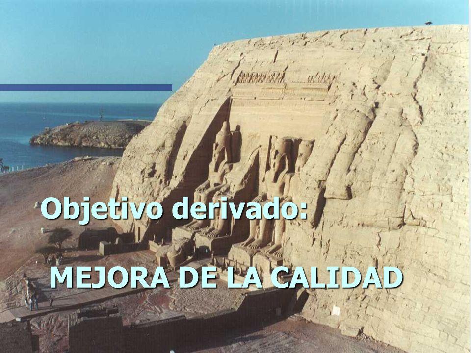 Objetivo derivado: MEJORA DE LA CALIDAD