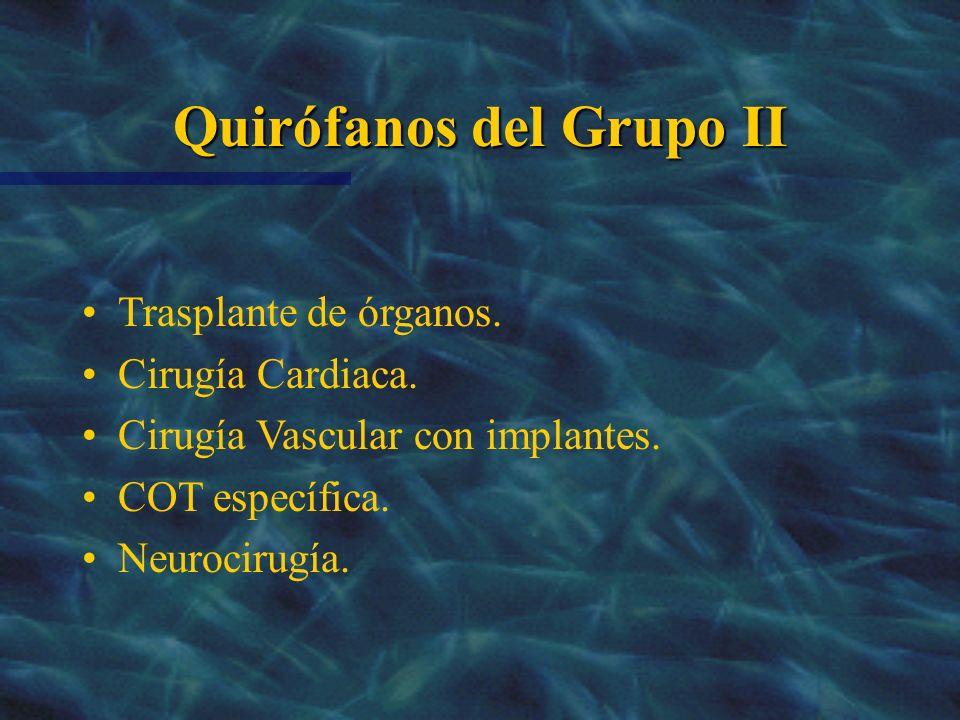 Quirófanos del Grupo II