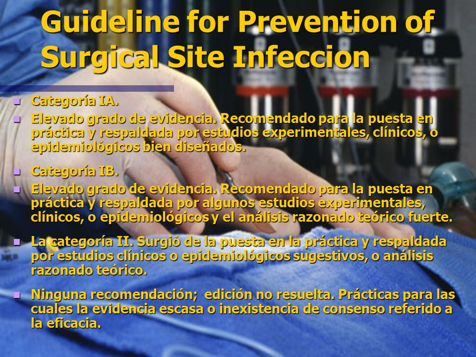 Guideline for Prevention of Surgical Site Infeccion