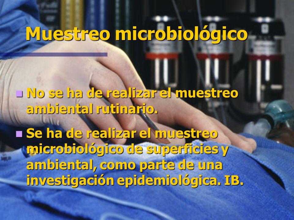 Muestreo microbiológico