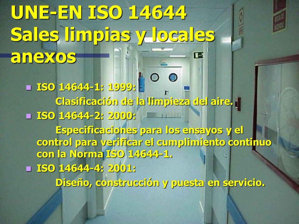 UNE-EN ISO 14644 Sales limpias y locales anexos