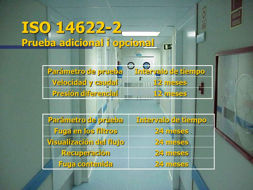 ISO 14622-2 Prueba adicional i opcional