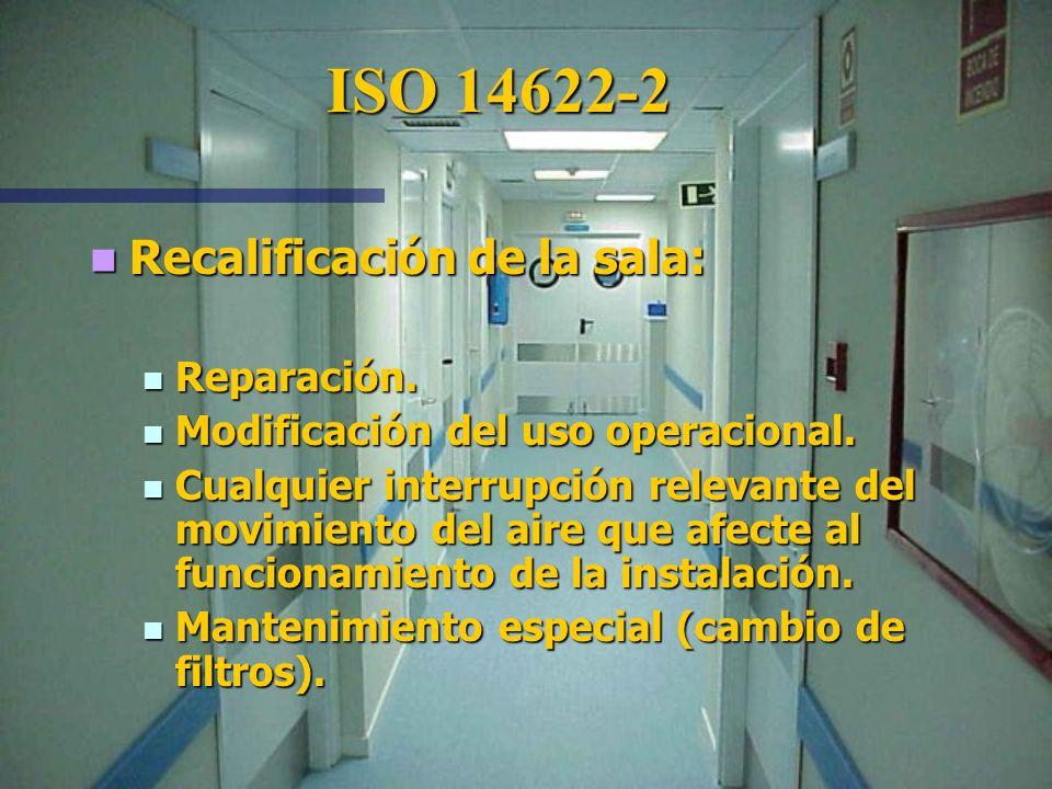 ISO 14622-2 Recalificación de la sala: Reparación.