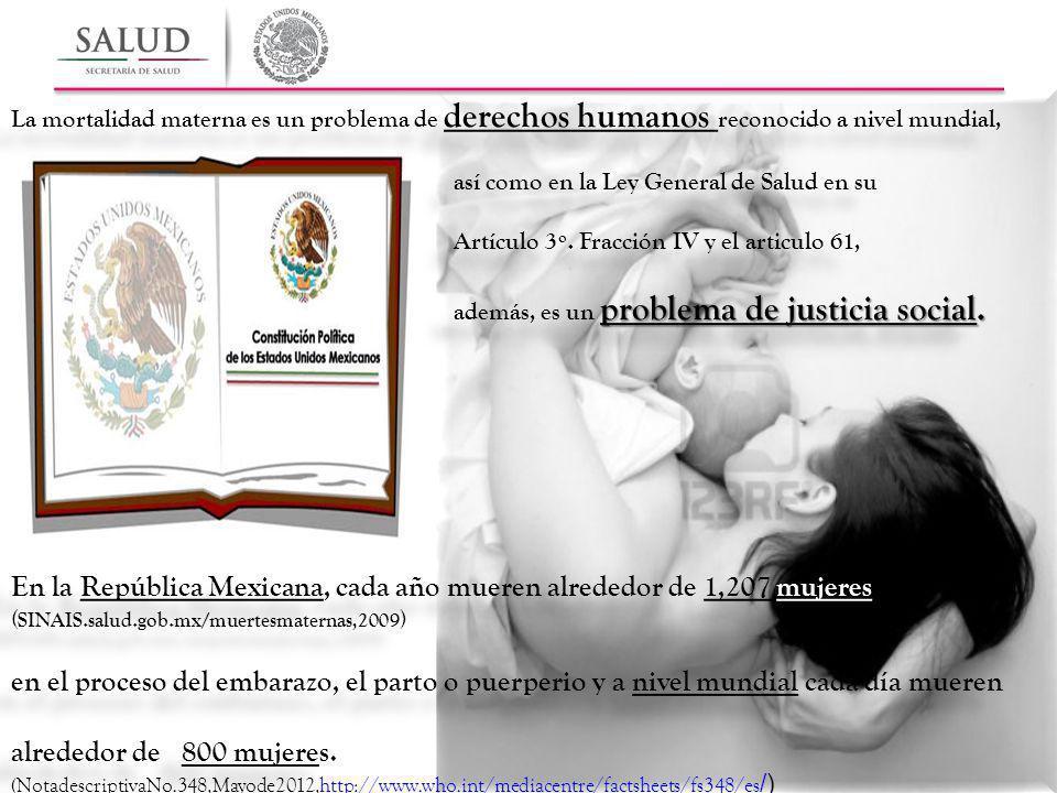 En la República Mexicana, cada año mueren alrededor de 1,207 mujeres