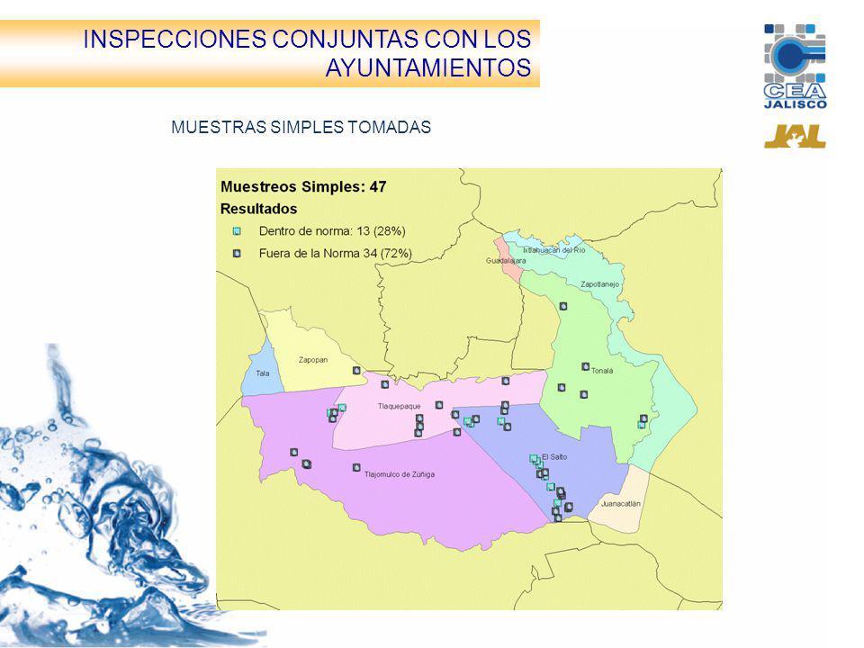 INSPECCIONES CONJUNTAS CON LOS AYUNTAMIENTOS