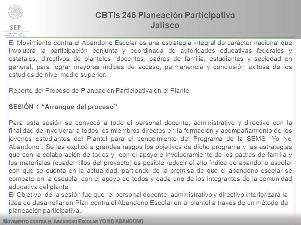 CBTis 246 Planeación Participativa