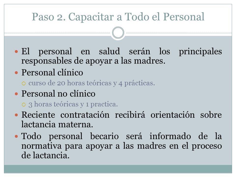 Paso 2. Capacitar a Todo el Personal