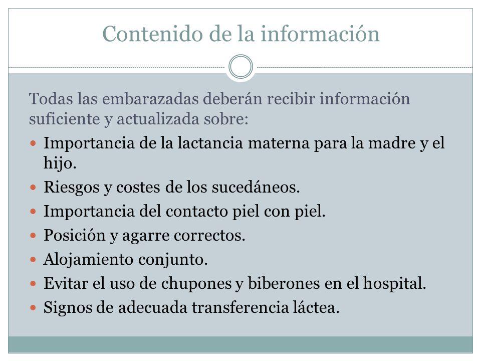 Contenido de la información
