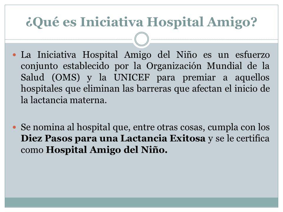 ¿Qué es Iniciativa Hospital Amigo