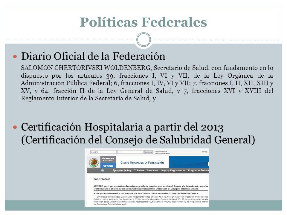 Políticas Federales Diario Oficial de la Federación