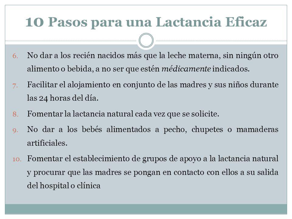 10 Pasos para una Lactancia Eficaz