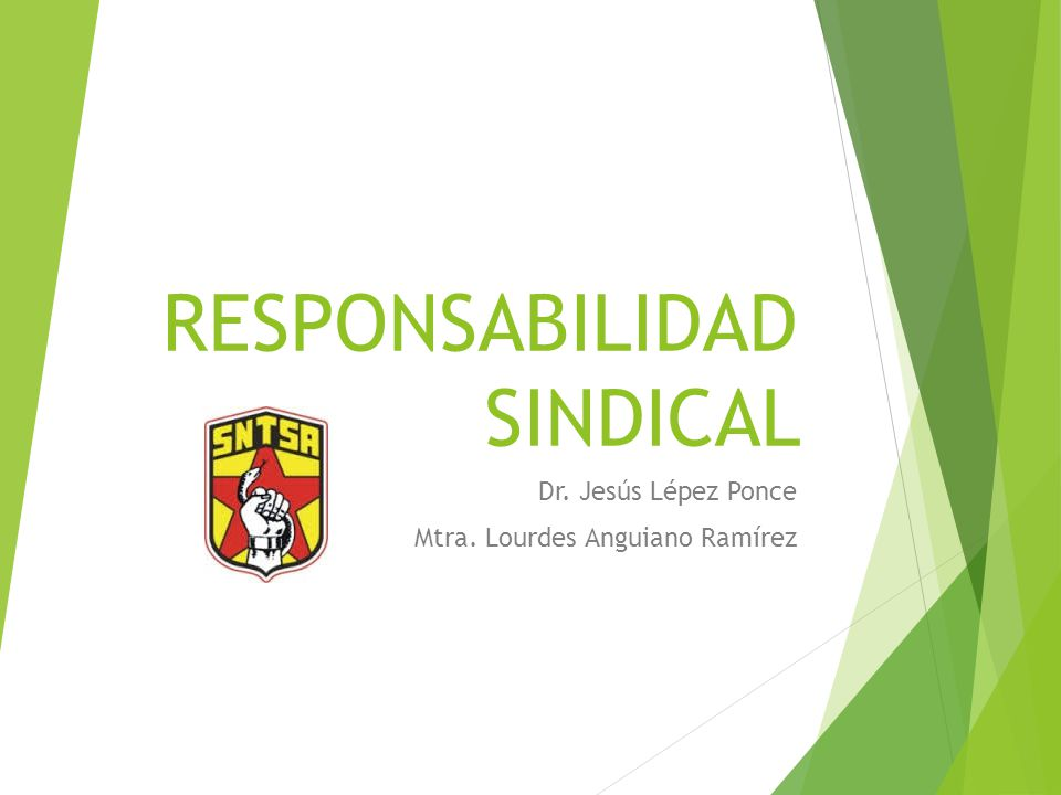 RESPONSABILIDAD SINDICAL
