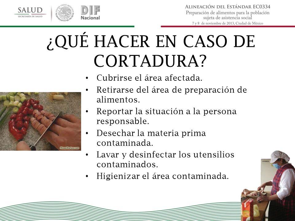 ¿QUÉ HACER EN CASO DE CORTADURA